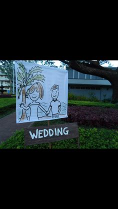 wedding road signs