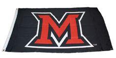 M Black 3'x5' 12025855   Miami University Bookstore