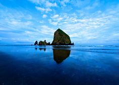 "I don't know who originallypinned this as ""Mountain Island""lol.....but it's really Haystack Rock :-)"