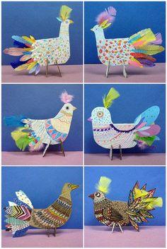 55 Paper Handmade To Rock This Summer Projects For Kids, Diy For Kids, Art Projects, Crafts For Kids, Arts And Crafts, Animal Crafts, Bird Crafts, Paper Crafts, Kids Art Class