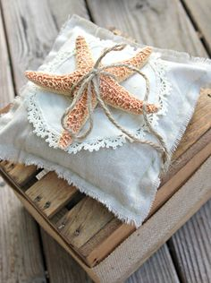 Ring Bearer Pillow  Starfish  Beach Wedding by LazyLightningArt, $20.00
