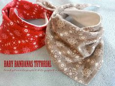 Free Pattern here and Tutorial: Baby Dribble Bib Bandana