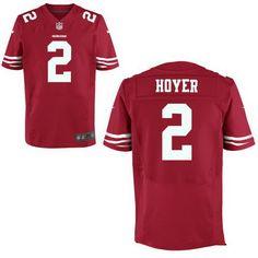 $22 San Francisco 49ers #2 Brian Hoyer Scarlet Red Team Color Nike NFL Elite Men's Stitched Jersey