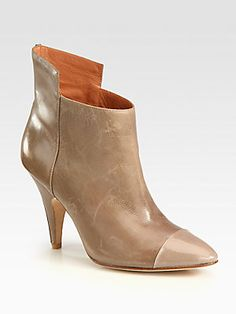 Classy & Sassy! Sigerson Morrison Naomi Leather and Patent Leather Ankle Boots