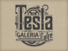 steampunk typography