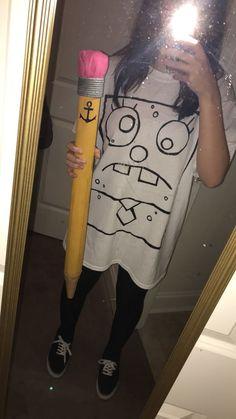 Spongebob Halloween Costume, Diy Halloween Costumes For Women, Halloween Outfits, Cool Costumes, Spongebob Costumes, Halloween Zombie, Girl Halloween, Group Halloween, Costume Halloween