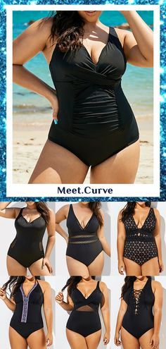 ✨2020 HOT SALE SWIMSUITS.Find the newest sexy and cute swimsuit at affordable prices. 💰Price under $40 and size up to 4X! 🛒🛒SHOP NOW! #beachwear #bathingsuit #swimwear #swimdress #bikini #tankini #tankini #onepiece #curve #plus size swimsuit #fashion #ootd #chic #trends #beach #swim #women Plus Size Swimsuits, Cute Swimsuits, Modest Swimsuits, Curvy Fashion Summer, Curvy Women Fashion, Swimsuits For Older Women, Ootd Chic, Night Dress For Women, Vintage Swimsuits