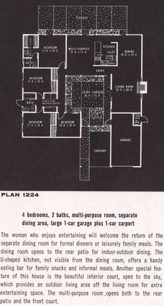 1000 images about blueprints on pinterest vintage house Eichler atrium floor plan