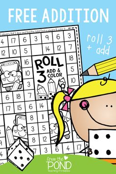 Math games 533606255845587478 - Addition Game Freebie – roll 3 dice, add and color. Math Classroom, Kindergarten Math, Teaching Math, Guided Maths, Math Tutor, Teaching Time, Creative Teaching, Teaching Spanish, Math Stations
