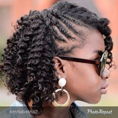 75 Most Inspiring Natural Hairstyles for Short Hair - Hair Style Cabello Afro Natural, Pelo Natural, Natural Hair Tips, Natural Curls, Natural Twists, Cute Hairstyles, Braided Hairstyles, Protective Hairstyles, Black Hairstyles