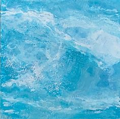 The Big Surf, encaustic ocean painting by Lee Anne LaForge | Effusion Art Gallery + Cast Glass Studio, Invermere BC Bear Paintings, Cute Paintings, Cast Glass, Canadian Artists, Painted Doors, Winter Landscape, Landscape Paintings, Surfing, Art Gallery
