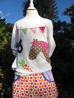 KinderT-Shirt ★ Geburtstags T-Shirt Pferd von De Dizzi auf DaWanda.com Etsy, Birthday, Fashion, 3rd Birthday, Unicorn Party, Dressmaking, Little Girls, Moda, Birthdays