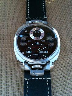 Anonimo Firenze Dual Time - WITH BRACELET AND KODIAK #Watch