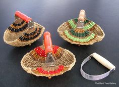 Pastry Blender Basket with Green Embellishment. $43.00, via Etsy. Interesting what they can do with old pastry blenders!