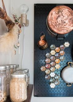I'm obsessed with my new magnetic hexagon-shaped spice jars from Gneiss Spice. They turn spices into an art installation in your kitchen!