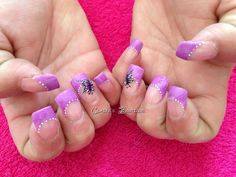 Sculpted acrylic nails with one stroke flowers