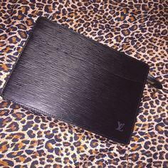 Louis Vuitton Bags - Louis Vuitton Pochette Homme Black Epi Clutch