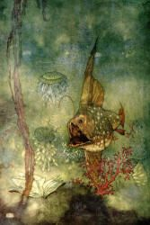Edmund Dulac - 'Prospero - ''And deeper than did ever plummet sound, I'll drown by book''' from ''The Tempest'' (1908)