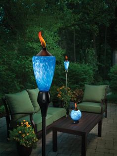 Amazon.com : TIKI 1111356 Lamplight Glowing LED and Flame Torch : Decorative Lighting : Patio, Lawn & Garden