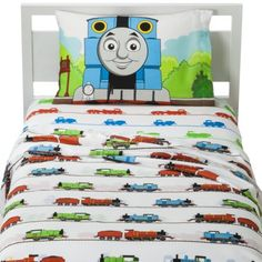 Thomas the Train Sheet Set - Twin at Target $19 poly/cotton blend. Mixed reviews on quality