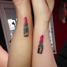 Mother Daughter Lipstick Tattoos