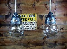 Vintage 30's Benjamin Explosion Proof Industrial Light Fixture Gas Station Barn2
