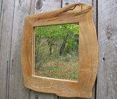 rustic frame, rustic mirror frame, live edge