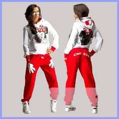Check Price XUANSHOW Women Set Casual Sportswear Cute Ear Cartoon Mouse Printed With Hooded long-sleeved Suit Tenue Tracksuit Femme Hoodie Sweatshirts, Printed Sweatshirts, Fleece Hoodie, Hooded Sweater, Hoodie Outfit, Terno Casual, Casual Suit, Tailor Made Suits, Outfit Sets