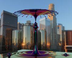 outdoor modern art sculpture
