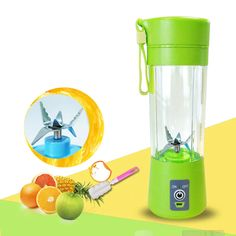 Portable Juice Blender USB Juicer Cup Multi-function Fruit Mixer Six Blade Mixing Machine Smoothies Baby Food dropshipping (Discount: 27 % )