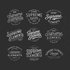 Type logo options by @septadomes | #typegang if you would like to be featured | typegang.com by type.gang