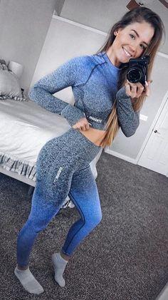 long blue gray heathered set.