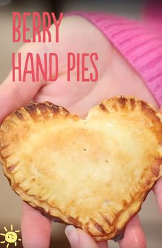 BERRY HAND PIES #berry #pies #valentines #heart #treat #recipe