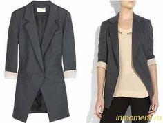 Модные длинные пиджаки дрнапироваванные