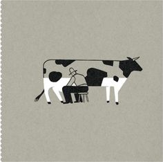 Pablo Amargo: Visual poetry. via nfgraphics #Illustration #Milking_Cow #Pablo_Amargo