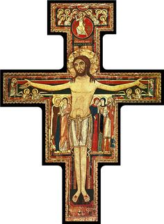Always have a picture of whatever I am going to talk about up on the screen when they walk in for my story. San Damiano talking Cross.