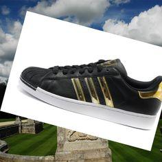 Adidas Originals Superstar 2 Men's Black,Gold,White Running Shoes Sale of 2015