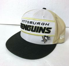 d8e8e8336ba Details about PITTSBURGH PENGUINS SNAPBACK HAT white black gold flat bill  big logo men women
