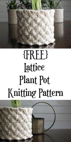 {FREE} Lattice Stitch Plant Cozy Knitting Pattern knitting for beginners knitting ideas knitting patterns knitting projects knitting sweater Knitting Patterns Free, Knit Patterns, Free Knitting, Free Pattern, Pattern Sewing, Yarn Projects, Knitting Projects, Crochet Projects, Sewing Projects