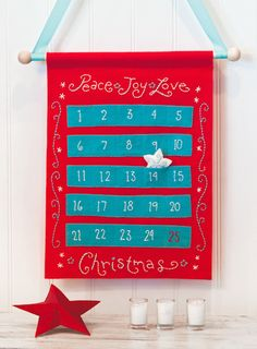 Create a hand-sewn Advent calender to count down to Christmas this year