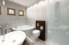 Projekt domu Sfinks VI 94,85 m2 - koszt budowy - EXTRADOM House Design Pictures, My House Plans, Bathtub, Bathroom, Home, Costa Rica, House Ideas, Construction, Home Plans