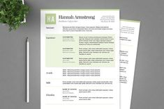 Resume This clean and professional resume will help you get noticed! The package includes a resume sample, cover letter example and a references template in a pretty green theme. This template is easy to change colours, layout and fonts to suit your needs. This template works in Microsoft Word only. Basic Microsoft Word knowledge is preferable for editing this product.