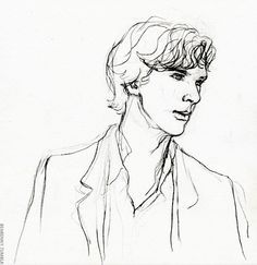 2688 by benbenny (april Guy Drawing, Drawing People, Drawing Sketches, Sketching, Sherlock Doctor Who, Sherlock Fandom, Sherlock Holmes, Benedict Cumberbatch, Doctor Strange Drawing