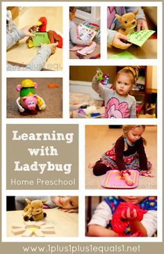 Learning with Ladybug Home Preschool from @{1plus1plus1} Carisa