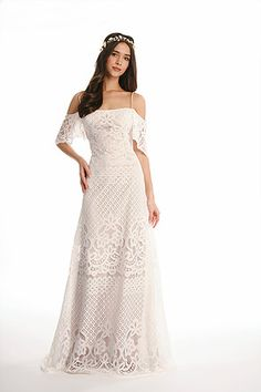 Blissfully Sweet Bohemian lace wedding dress, Joy Collection by Barbara Kavchok- Eugenia Couture