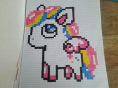 Pixel Art Licorne Facile à Réaliser Dibujos Pixelados Pixel