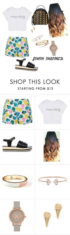 """""""BTS INSPIRED OUTFITS"""" by btsmyhearteu on Polyvore featuring Draper James, WithChic, Ancient Greek Sandals, Old Navy, Olivia Burton, Marc Jacobs and Gucci"""
