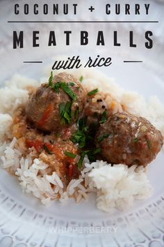 Coconut Curry Meatballs with Rice