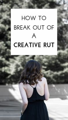 How to break out of a creative rut: my tips for staying creative even when you're feeling drained.
