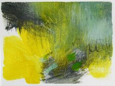 absract landscape - green/blue/yellows
